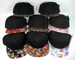 Blank Floral Snapback Hats Wholesale - Flower Brim | Rectangular