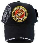 Wholesale Military Hats - US Marine Corps Emblem Ball Caps