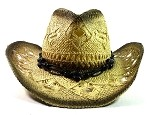 Western Cowboy & Cowgirl Straw Hats Wholesale - Black Beads