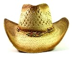 Western Cowboy Straw Hats Wholesale - Multicolored Beads & String