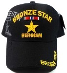 Wholesale Military Hats - Bronze Star Heroism Ball Caps