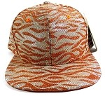 Wholesale Blank Tigerstripe Snapback Hats - Dark Orange