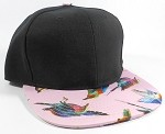 Wholesale Women's Snapback Caps - Birds | Pink 3