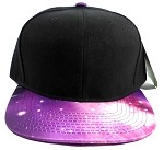 Wholesale Blank Snapback Hats - Galaxy Print | Purple 3