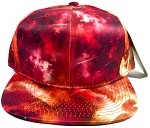 Wholesale Blank Snapback Hats - Galaxy Print | Red Space 1