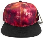 Wholesale Blank Snapback Hats - Galaxy Print | Red Space 2