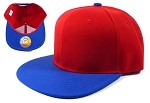 Blank Snapback Hats Caps Wholesale - Red | Blue