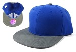 Blank Snapback Hats Caps Wholesale - Royal Blue | Gray