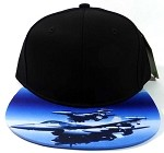 6-Panel Blank Strapback Hats Caps Wholesale - Jet