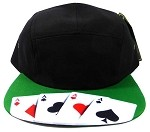 STRAPBACK 5-Panel Blank Camp Hats Caps Wholesale - Poker Cards