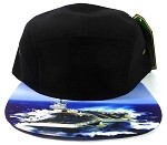 STRAPBACK 5-Panel Blank Camp Hats Caps Wholesale - Carrier/ NAVY