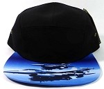 STRAPBACK 5-Panel Blank Camp Hats Caps Wholesale - Jet