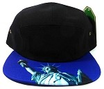 STRAPBACK 5-Panel Blank Camp Hats Caps Wholesale - Statue of Liberty