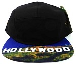 STRAPBACK 5-Panel Blank Camp Hats Caps Wholesale - Hollywood