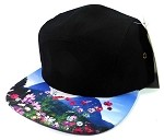 STRAPBACK 5-Panel Blank Camp Hats Caps Wholesale - Cosmos Flowers