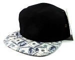 STRAPBACK 5-Panel Blank Camp Hats Caps Wholesale - Money Bill