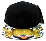 STRAPBACK 5-Panel Blank Camp Hats Caps Wholesale - Tiger