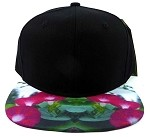 6-Panel Blank Strapback Hats Caps Wholesale - Morning Glory Flower