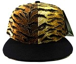 Blank Tiger Snapback Hats Caps Wholesale - Black Brim
