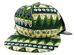Wholesale Aztec Snapbacks Hats - Green Pattern