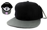 Blank Snapback Hats Caps Wholesale - Black | Grey