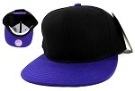 Blank Snapback Hats Caps Wholesale - Black | Purple