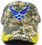 Wholesale US Military Air Force Veteran Hats - Camouflage