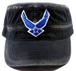 Wholesale US Military Air Force Cadet Hats - Vintage Black