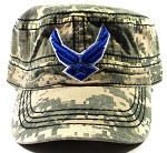 Wholesale US Military Air Force Cadet Hats - Digital Camouflage