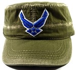 Wholesale US Military Air Force Cadet Hats - Olive Green