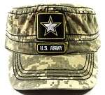 Wholesale US Military Army Cadet Hats - Digital Camouflage