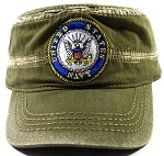 Wholesale US Military Navy Cadet Hats - Olive Green