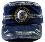 Wholesale US Military Navy Cadet Hats - Vintage Blue Jean