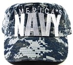 Wholesale US Military Cadet Hats - America's Navy Caps - Camo