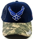 Wholesale US Military Ball Caps - USAF Camo Hats