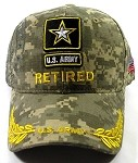 Wholesale US Military Army Star Ball Caps - Army RETIRED Hats