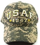 Wholesale US Military Air Force Text Caps - 1947 - Camouflage