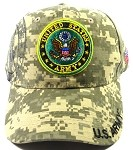 Wholesale US Military Army Emblem Hats - Digital Camouflage
