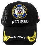 Wholesale US Military Navy Retired Caps - Insignia Hats