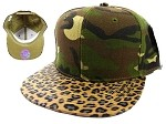 Blank Cheetah Snapback Hats Wholesale - Camouflage