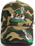 Deer Logo Hats - Hunting Ball Caps in Camouflage, Khaki, Black