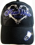 Native Pride Pow Wow Babe & Feather Hat - Black Ball Cap