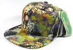 Wholesale Blank Animal Print Snapbacks Hats - Solid Chrome Tiger