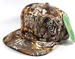 Wholesale Blank Animal Print Snapbacks Caps - Solid Tigerface