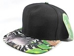 Wholesale Blank Animal Print Snapbacks Hat - Wild Animals | Black Crown