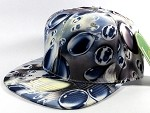 Wholesale Blank Marble Art Snapback Hats | Waterdrop Print | Navy