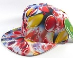 Wholesale Blank Marble Art Snapback Caps | Waterdrop Print | Red