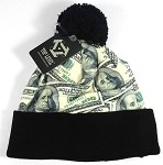 Wholesales Fashion Pom Pom Beanie Winter Hats - Money - Original Benjamin