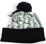 Wholesales Fashion Pom Pom Beanie Winter Hats - Money - More Benjamin