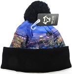 Wholesales Fashion Pom Pom Beanie Winter Hats - City - Chicago Panorama